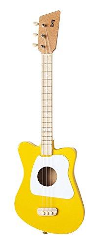 Loog Mini Acoustic Guitar 3-String Guitar, Yellow by Loog