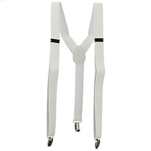 Fashion Suspender - White OSFM by Buy4 (Image #1)
