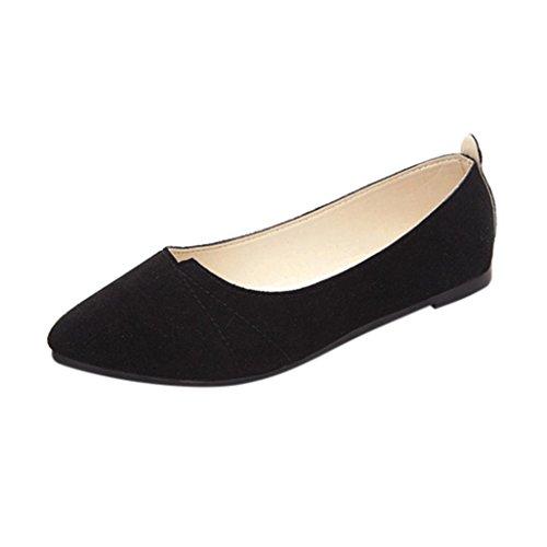 Slip on Overdose Pointure Mocassins Plats Suédine Chaussures Femme Noir Shoes Soft Ballerines Casual na6THS