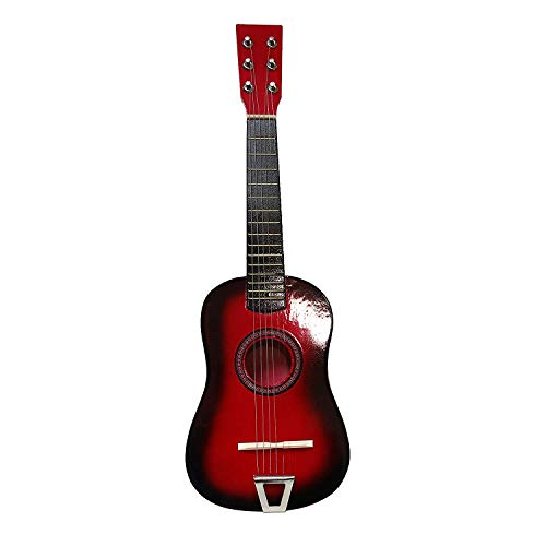 Toy Musical Instrument for Kids   String Acoustic Guitar w/ Tuning Knobs  Top Birthday Gift for Boys & Girls!   Rock 'n Roll Classic Guitar   Perfect for Beginners   Educational Toys 6+ (Red)