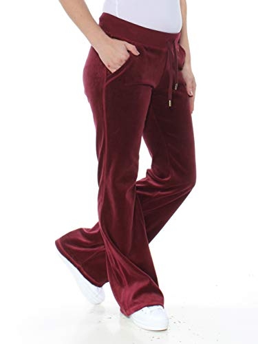 (MICHAEL Michael Kors Drawstring Velour Pants (Merlot, X-Small))