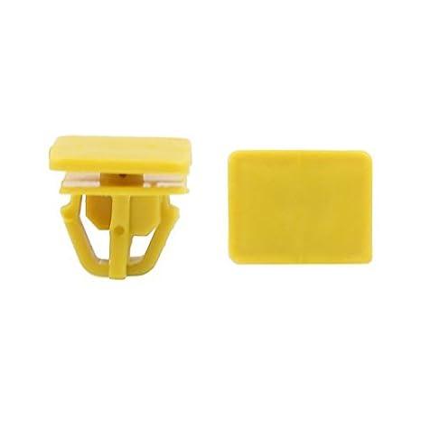 Amazon.com: eDealMax 100 piezas de plástico Tornillo, remache Retenedores capilla Empuje Clip Pin 20 x 16 mm Dia: Automotive