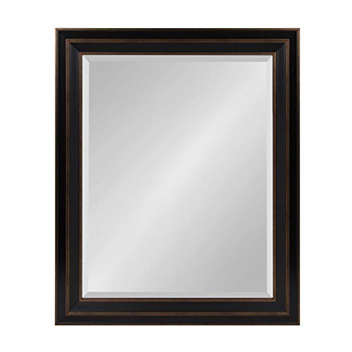 Kate and Laurel Whitley Framed Wall Mirror, 27.5x33.5, - Discount Mirrors Vanity Bathroom