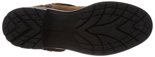 Clarks Reunite Go GTX - botas de caño bajo de cuero mujer Marrón (Mid Brown Sde)