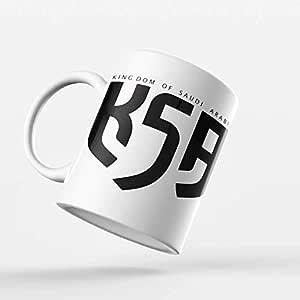 عتيق كوب سيراميك للشاي والقهوه تصميم اليوم الوطني السعودي