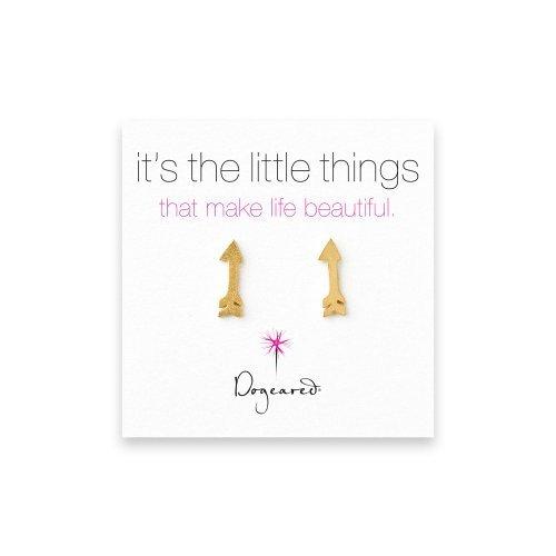 Dogeared It's the Little Things Arrow Earrings - Gold Dipped by Dogeared