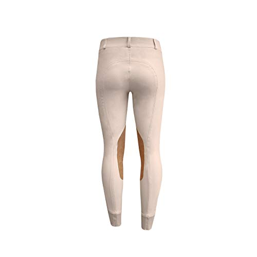 ELATION Show Breeches for Women Platinum Chelsea - Ladies Hunter Breeches for Incredible Performance Breeches, Comfort and Style (Tan, 26R)