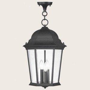 Livex Lighting 7569-04 Hamilton 3 Light Outdoor Hanging Lantern, Black Hamilton 4 Light Bath