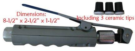 Ceramic Sandblaster - Abrasive Blaster Sandblaster Nozzle Gun w/ 3 Ceramic Tips