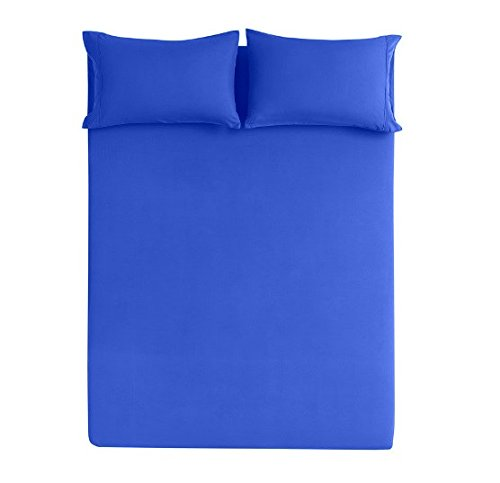 The Great American Store - 13 inch Extra Deep Pocket Bed Sheet Set - 4 Piece Full Size Solid Royal Blue - 1800 Series Brushed Microfiber - Wrinkle, Fade, Stain Resistant