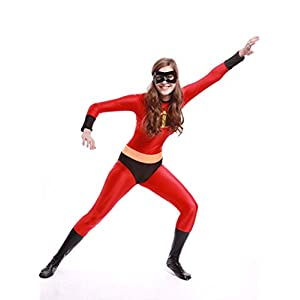 Ourworth Mrs Incredible Costume Women The Incredibles Cosplay Suit Xl