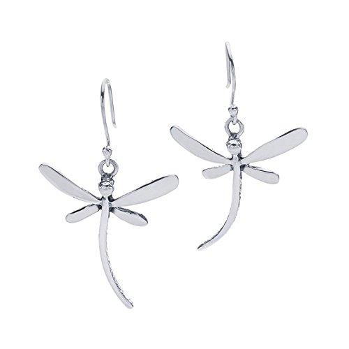 Earring Dragonfly Silver - Sterling Silver Dragonfly Earrings