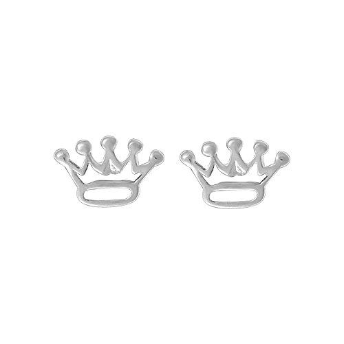 Boma Jewelry Sterling Silver Crown Stud Earrings
