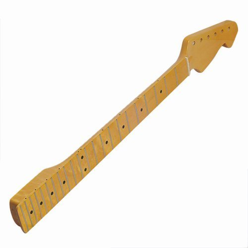 1pc Classic Yellow Maple Guitar Neck 22 Fret Full Fretjob for Fender St Replacement