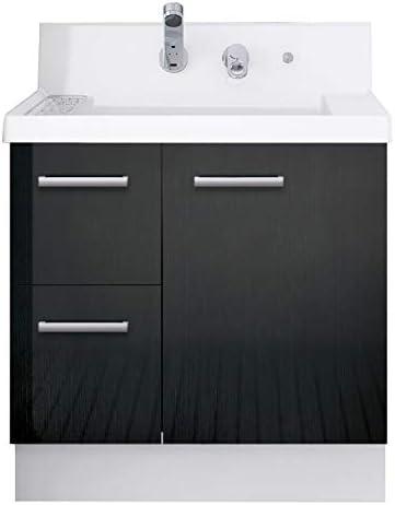 イナックス(INAX) 洗面化粧台 K1シリーズ 幅75cm 片引出タイプ シングルレバーシャワー水栓 K1H4-755SY/YD2H 一般地用 ウェンゲチャコール(YD2H)