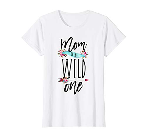Womens Mom of a Wild One Shirt Boho 1st Birthday Mommy Party Tee