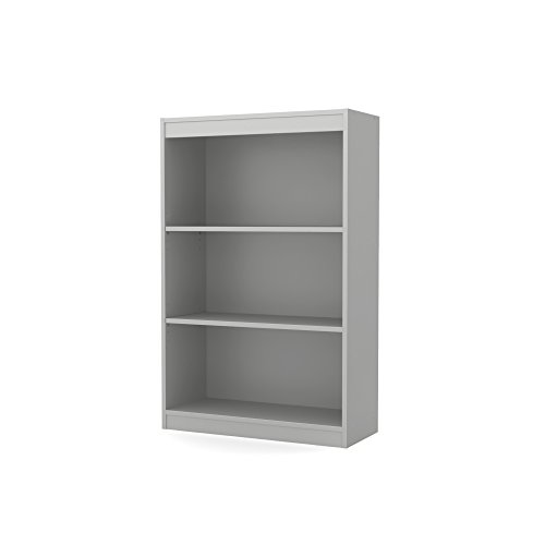 South Shore 3-Shelf Storage Bookcase, Soft Gray