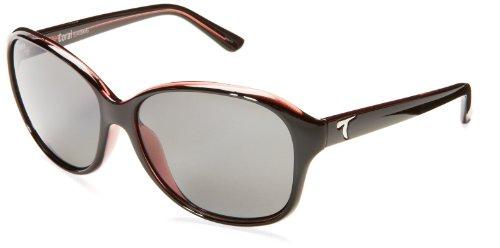 Typhoon Coral Oversized Polarized Sunglasses,Black Over Rose,60 - Typhoon Eyewear
