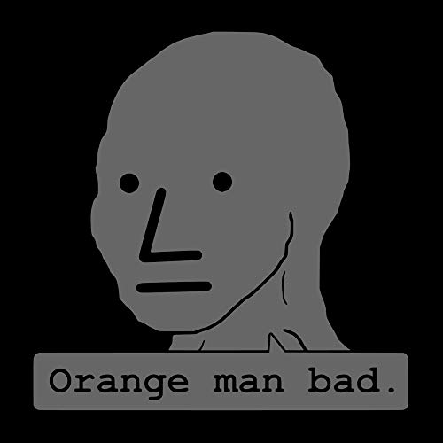 5in NPC Orange Man Bad Funny Meme Vinyl Laptop Wall Car Window Sticker Decal Graphic Collection (Decals Vinyl Collection)