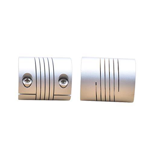 Inner Diameter: 8mm to 9.5mm Fevas Aluminum CNC Stepper Motor Flexible Clamping Coupling Silver Diameter 25mm Length 30mm Shaft Coupler clamp
