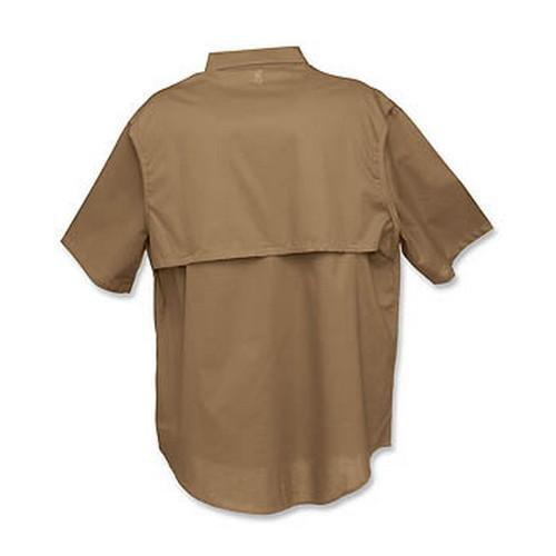 - Browning Badger Creek Short Sleeve Shooting Shirt, Brown, Small