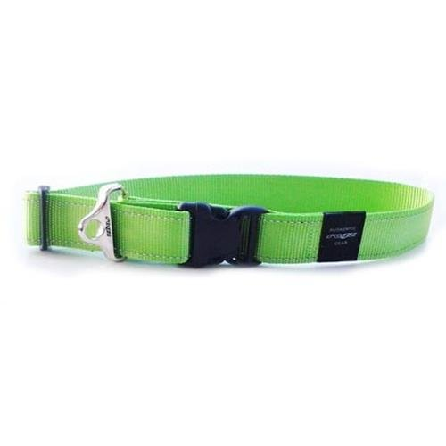 Rogz Utility Landing Strip Lime Dog collar - XXL