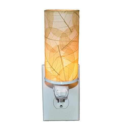 Eangee Home Designs 624 N Handmade Banyan Leaf Cylinder Nightlight, Natural (Table Lamp Banyan)