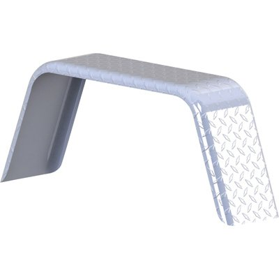 Tow Zone Jeep-Style Single Aluminum Tread Fender - Fits Single 13in.-15in. Ti...