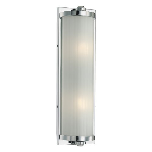 Minka Lavery 6522-77 Hyllcastle 2 Light Transitional Bath Art Wall Sconce, Chrome by Minka Lavery