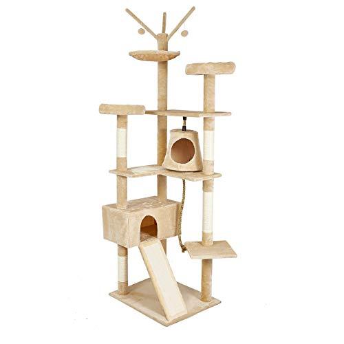 Meerveil Stabiler Kratzbaum XXL, Katzenbaum XXL mit Verbreiterter und Verdickter Bodenplatte, Hochwertiger Sisal und 2…