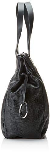 Donna b 0 H 12 schwarz Nero Shopperl X T Cm black Borse A Secchiello 0x40 0x30 Pebble qIOZB