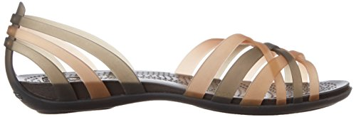 Crocs Sandal Bronze Espresso Gold Huarache Women Flat 1Twrv61