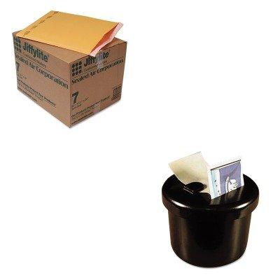 KITLEE40100SEL39098 - Value Kit - Sealed Air Jiffylite Self-Seal Mailer (SEL39098) and Lee Ultimate Stamp Dispenser (LEE40100)