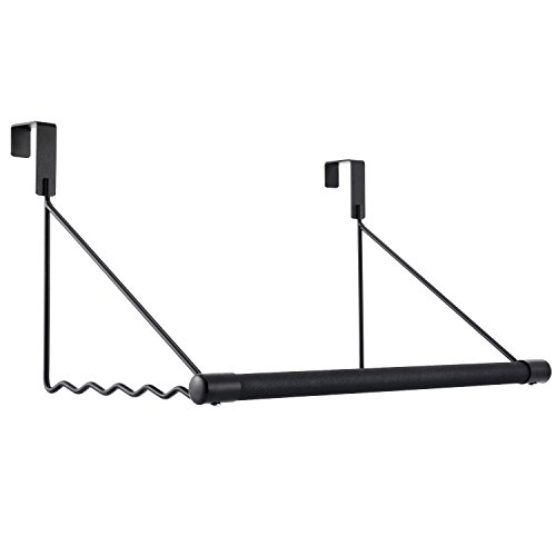 - Magicfly Over The Door Closet Rod, Heavy-Duty Over The Door Hanger Rack with Hanging Bar for Coat, Towels Holder, Freshly Ironed Clothes, Black