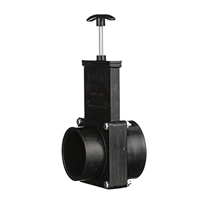 Valterra ABS Gate Valve for RV, Camper, and More - 3-Inch Hub x Spigot Connection: Automotive