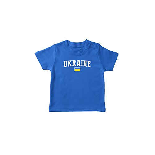 (nobrand Ukraine Bodysuit Infant New Born Country Flag Tee World Cup Pride (Blue T-shirt 4T))