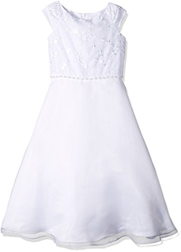 Lavender Big Girls' Off The Shoulder a-Line Dress, White, 14 by Lavender