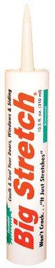 Acrylic Big Stretch Rubber (Sashco 10002 100 Percent Acrylic Latex Big Stretch High Performance Caulk, 10.5oz Cartridge, Almond (Case of 12))
