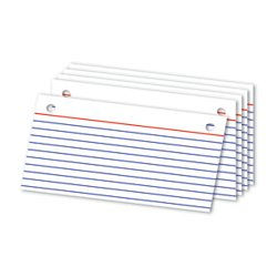 Index Card Binder Refill - Office Depot(R) Brand Binder Refill Index Cards, 3in. x 5in, White, Pack of 50