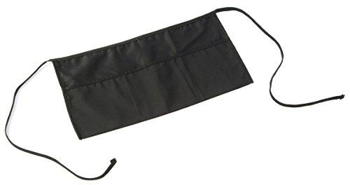 Displays2go Waist Apron, 3 Pocket, Wait Staff and Restaurant Uniform, Black, Set of 10