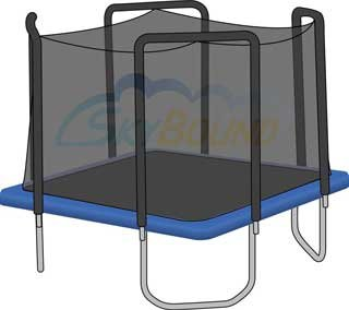 Trampoline Net for 13' x 13' Square Skywalker Trampoline Fits 4 Arches (Net O. by SkyBound