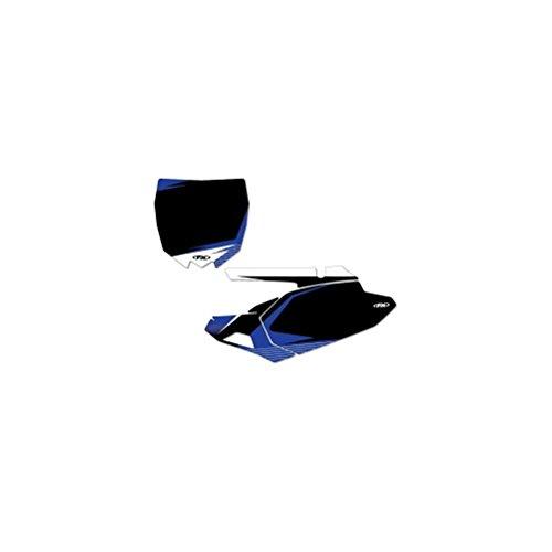[해외]공장 Effex (13-64228) 블랙 Pre-Cut 번호 플레이트 그래픽 배경/Factory Effex (13-64228) Black Pre-Cut Number Plate Graphic Background