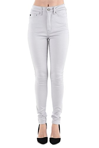 Kan Can Women's High Rise Skinny Jeans (7, Violet Essence)