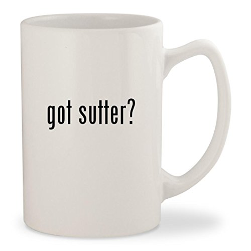 got sutter? - White 14oz Ceramic Statesman Coffee Mug (Sutter Merlot)