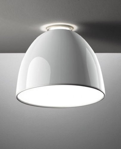 Nur mini Gloss ceiling light - 220 - 240V (for use in Australia, Europe, Hong Kong etc.), Polished White HAL