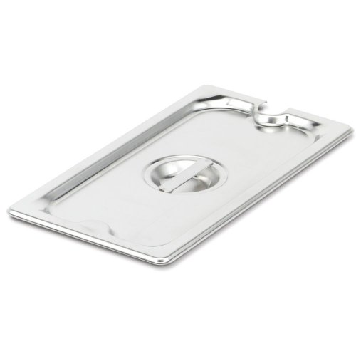 Super Pan 3 Steam Table Pan Sixth Size - Cover Notched - Steam Table Insert Cover