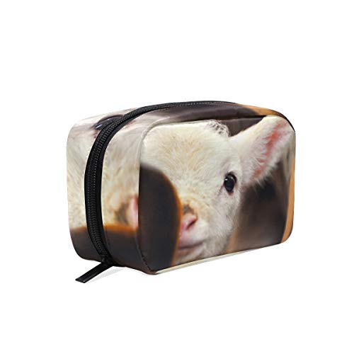 Cosmetic Bag Cute Baby Lamb Sheep Girls Makeup Organizer Box Lazy Toiletry Case