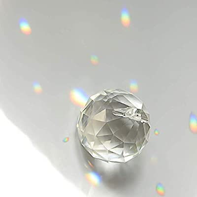 MerryNine Mixed Colorful Crystal Ball Prism with Drilled Hole Suncatcher Rainbow Pendants Maker, Hanging Crystals Prisms for Windows, for Feng Shui, for Gift(PrismBall-20mm Colorful) : Garden & Outdoor
