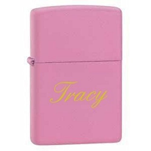 Groomsman Gift Personalized Matte Finish Color Zippo LIGHTER - Free Laser Engraving (Pink Matte)