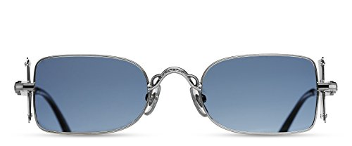 Matsuda - 10611H - PW.SG - Palladium White - Blue Grey Solid - Sunglasses